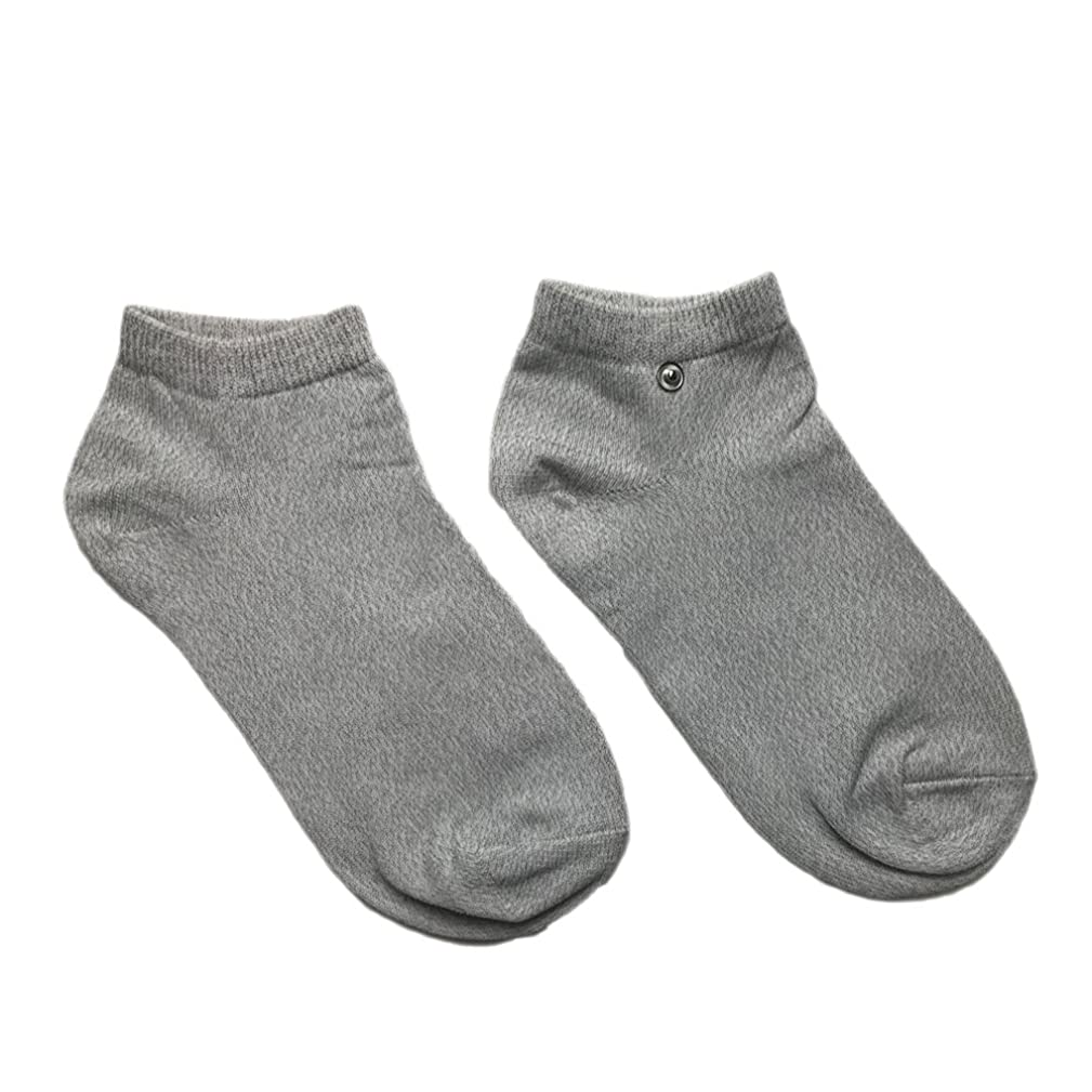 riraku-life(??????) 大地と繋がるアーシング健康法用 アーシングソックス(low) 導電性靴下 (M)