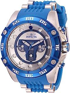 ساعة انفيكتا للرجال 16 قيراط ستانلس ستيل كوارتز مع حزام سيليكون، ازرق، 26 (27966)