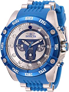 Invicta Men's Star Wars Stainless Steel Quartz Watch with Silicone Strap, Blue, 26 (Model: 27966)
