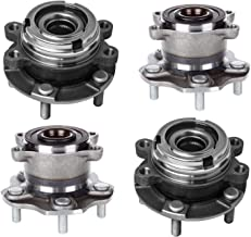 Bodeman - (4) Front & Rear Driver Passenger Side Wheel Hub and Bearing Assembly for 2007 2008 2009 2010 2011 2012 Nissan Altima - 2.5L