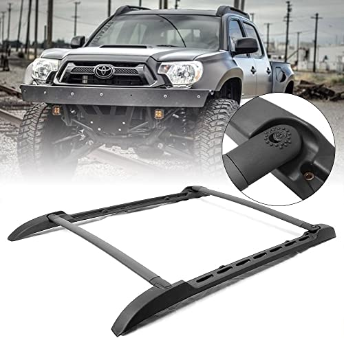2021 Mallofusa Roof high quality Rack Cross Bars 2021 for 2005-2015 Toyota Tacoma Double Cab Black outlet online sale