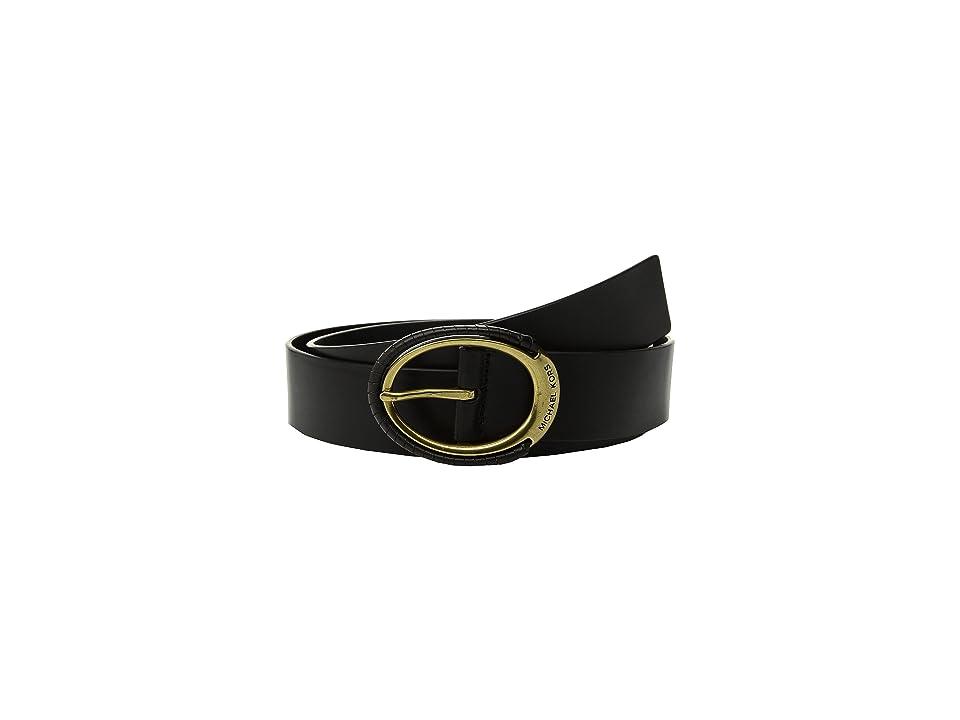 MICHAEL Michael Kors 38mm Belt w/ Wrapped Buckle (Black) Women