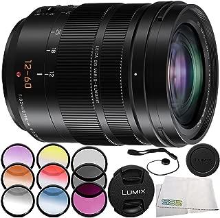 Panasonic Leica DG Vario-Elmarit 12-60mm f/2.8-4 ASPH. Power O.I.S. Lens 6PC Accessory Bundle – Includes 3 Piece Filter Kit (UV + CPL + FLD) + More (White Box) - International Version (No Warranty)