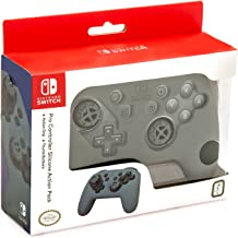 Nintendo Switch Pro Controller Action Grip and Thumb Grips – Grey Textured Silicone – Official Nintendo Licensed Product