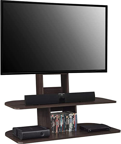 Ameriwood Home Galaxy TV Stand With Mount For TVs Up To 65 Wide Espresso