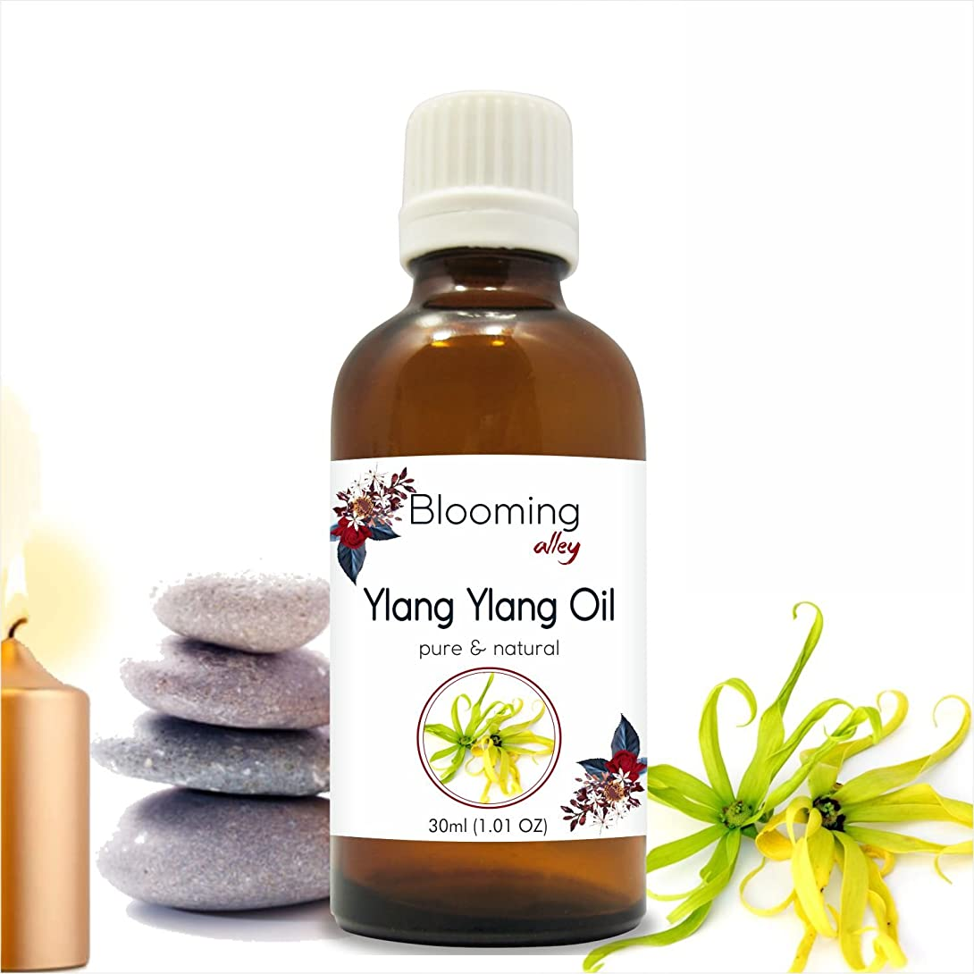 ダウンタウン独特の暖かくYlang Ylang Oil (Cananga Odorata) Essential Oil 30 ml or 1.0 Fl Oz by Blooming Alley