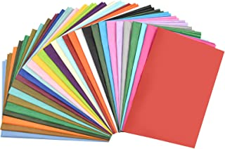 Chstarina 100 Feuilles Papier de Soie Couleur - 30 Couleurs - 50 x 90 cm Papier Vitrail Papier Emballage Couleur Transpare...