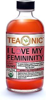 I LOVE MY FEMININITY - Sugar Free Tea - Herbal Tea Tonic - Hibiscus Tea - Spearmint Tea - Rooibos Tea Organic - Holy Basil...