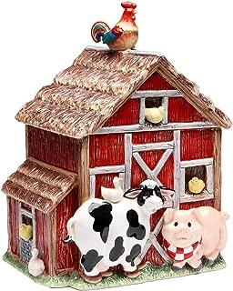 Appletree Design Barn Yard Cookie Jar, 10-3/8-Inch