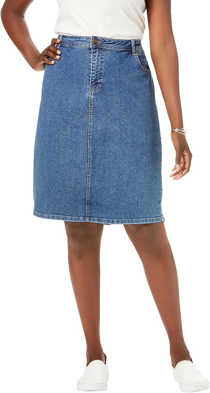 Jessica London Women's Plus Size True Fit Denim Short Skirt