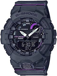 G-Shock G-Squad Black & Purple Bluetooth Midsize Womens Watch GMAB800-8A