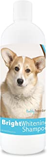 Healthy Breeds Dog Whitener Shampoo For Cardigan Welsh Corgi - For White, Lighter Fur – Over 150 Breeds – 12 Oz - With Oat...