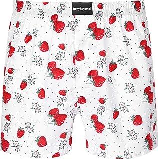 Freebily Men's Cotton Lounge Shorts Pyjama Bottoms Checked Sleepwear Lounge Wear Pyjama Shorts