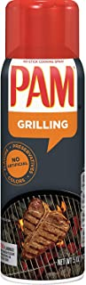 PAM No-Stick Cooking Oil Spray for Grilling 5 oz (Pack of 12)