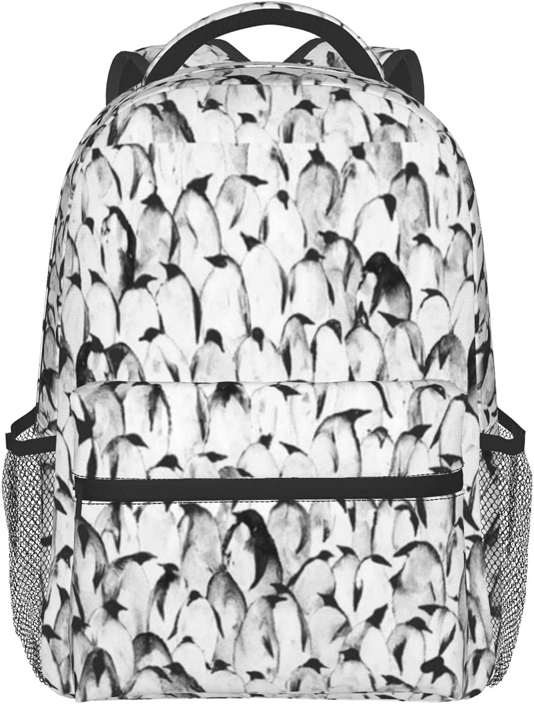 Penguin Bag New York Mall Waterproof Student Laptop Dura Extra Backpack Large-scale sale Casual