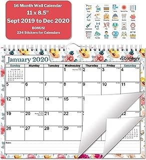 monthly wall calendar 2019