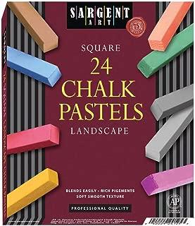 Sargent Art 22-4125 24-Count Landscape Square Half Pastels