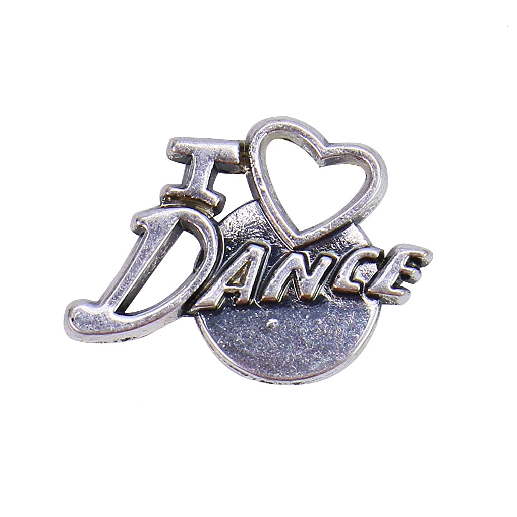 Monrocco 10pcs I Love Dance Charm Pendants Dance Charms for Jewelry Making Bracelets DIY