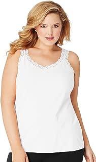 Stretch-Cotton Lace-Trim Women's Camisole