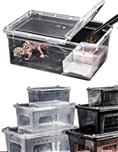 JINGLE.H Portable Reptile Terrarium Habitat Reptile Hatching Container for Tarantulas, Geckos, Crickets, Snails, Hermit Crabs, Frogs, Lizards, Baby Tortoise and Snakes