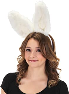 elope White Bunny Bendable Ears Headband