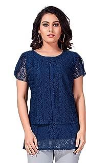 Comet Enterprise Women's Polyester Regular Fit Top Blue