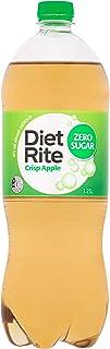 Diet Rite Zero Sugar Soft Drink, Crisp Apple, 12 x 1.25L