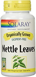 Solaray Organic Nettle Leaves Supplement, 450 mg | 100 Count