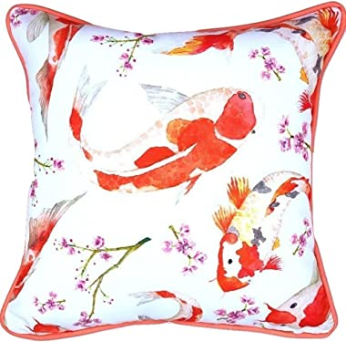 Sea By Day Solan Beach Outdoor Pillows or Decorative Throw Pillows for Couch- Accent Pillows for Patio Furniture Cushions 20x