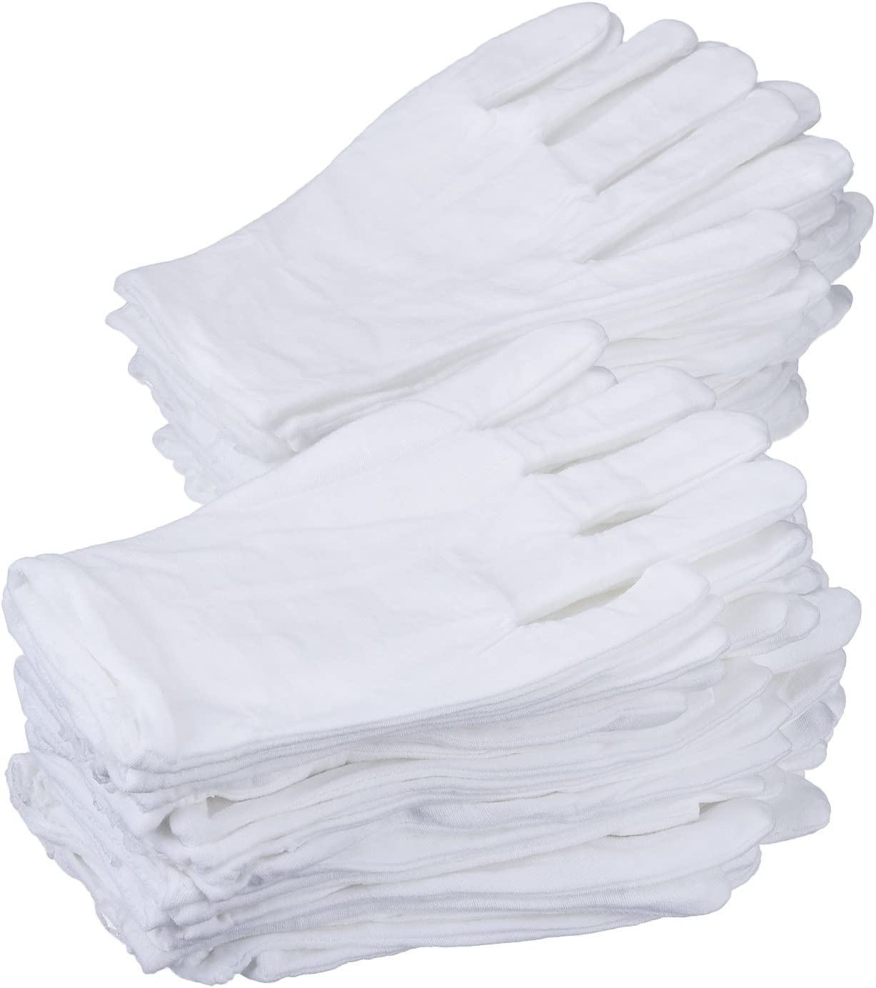 eBoot 24 Pairs 8 New Shipping Free Inches Gloves store Medium Cotton White Work