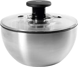 OXO SteeL Salad Spinner, Silver (1071497) 6-2/74-Quart