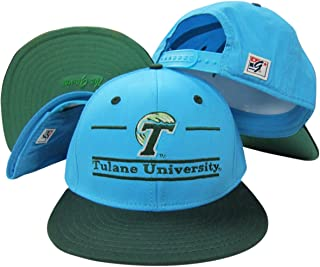 Tulane Green Wave Classic Split Bar Snapback Adjustable Plastic Snap Back Hat/Cap