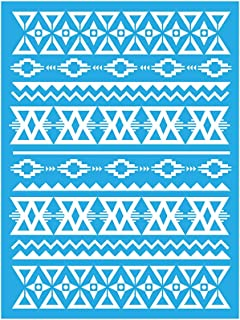 DecoArt Americana Mixed Media Stencil, 6 by 8-Inch, Aztec Pattern