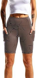 Cadmus Yogashorts med hög midja för kvinnor naken känsla träning löpning cyklist shorts
