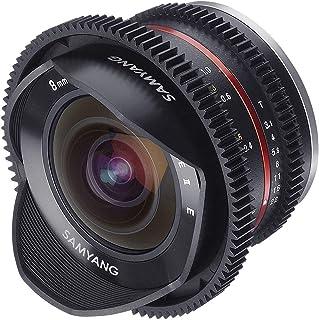 Samyang Obiettivo per Video vCSC Mirrorless, Apertura T3.1 22UMC Cine II, Fish Eye, Nero
