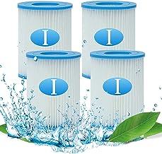 Denkmsd Bestway I Filtros de piscina para Bestway 58381 Tipo I Cartucho de filtro para piscina Bestway Pool tipo I Filtro de cartucho para limpieza de piscina Accesorios (4 unidades)