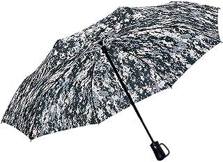LPKH Umbrella Travel Umbrella Golf Umbrella,Camping, Hiking, Backpacking, Auto Open & Close Windproof Frame Automatic Folding Umbrella (Color : Beige)