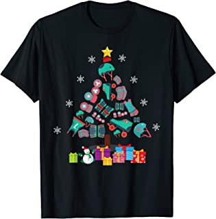 Roller Derby Sport Christmas Tree Tshirt Christmas Gift