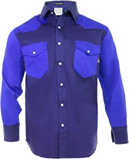 │Flame Resistant FR Shirt - 88/12 - Western Style - Two Tone