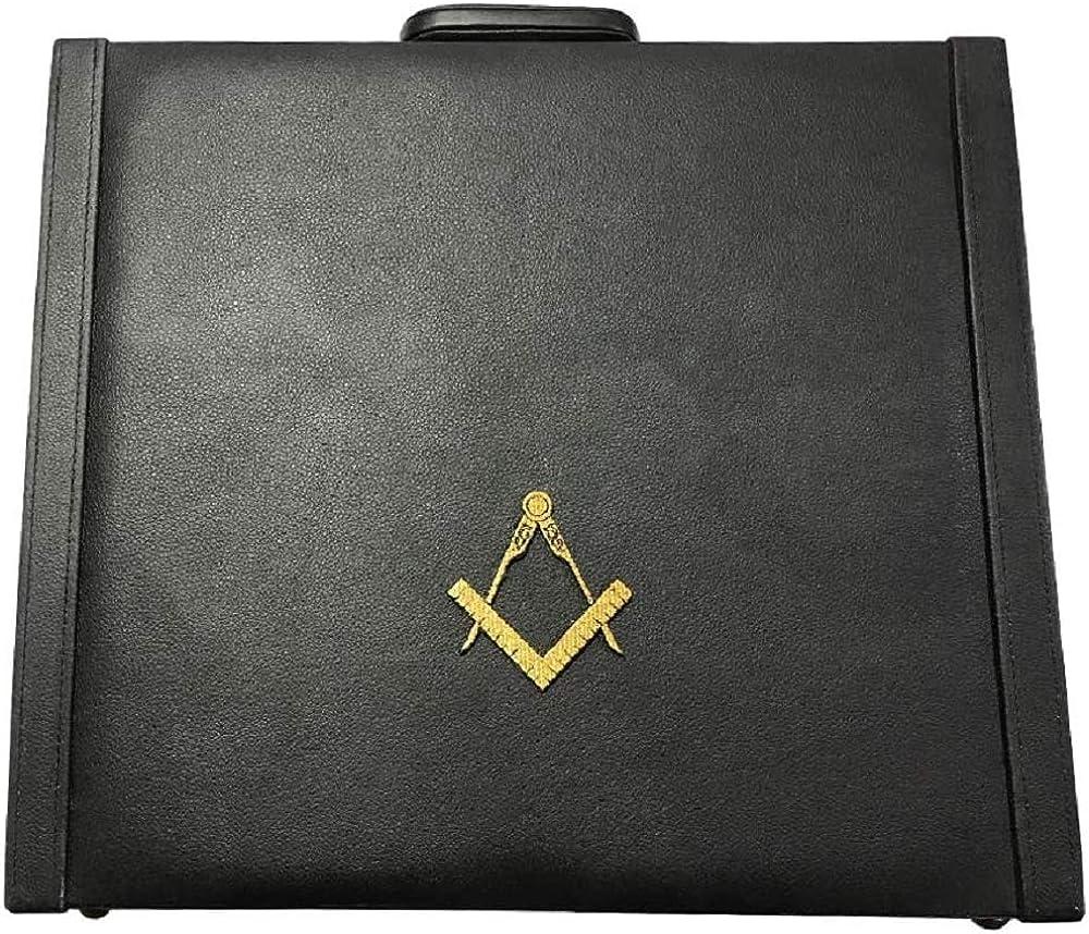 Masonic Regalia MM WM and 上質 Apron Briefcase provincial 正規品送料無料 Yellow with