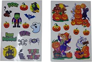 Halloween Pumpkin Jack-O-Lantern Clings (Pack of 24 Clings)   Non-Adhesive Halloween Theme Window Clings Decoration, Halloween Party Supplies