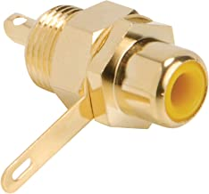 Parts Express Gold RCA Jack Solder Type Yellow Each Hex Type