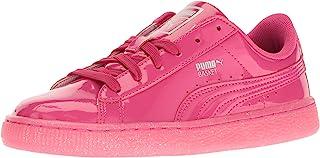 PUMA Kids' Basket Patent Iced Glitter Jr Running Shoe
