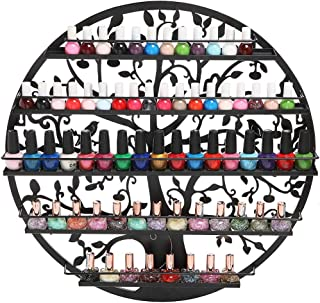 Wall-Mounted 5-Layer Nail Polish Rack, Wrought Iron Nail Polish Rack, Gorgeous Bird and Tree Design, Suitable for Any Commercial/Home Use.