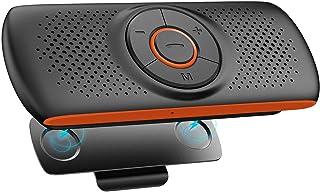 NETVIP 車載用 Bluetoothスピーカー 携帯電話 ワイヤレスポータブルスピーカーハンズフリー 通話 音楽再生 LINE通話対応 内蔵マイク GPSナビゲーション GoogleアシスタントとSiriをサポート TFカード大音量でクリア...