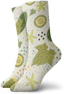 wwoman, Calcetines estampados para hombre y mujer Calcetines básicos coloridos divertidos Novedad Crazy Crew 30 cm