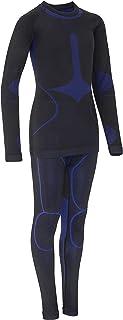 icefeld Ademende sport-ski-thermo-ondergoed voor kinderen, naadloos (naadvrij): bovendeel met lange mouwen en lange onderb...