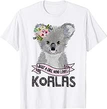 Just A Girl Who Loves Koalas Koala Bear T-Shirt