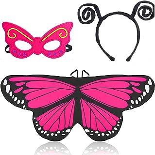 Bianca AIEX 2 Pezzi Farfalla Antenna Fascia per Capelli Farfalla Bug Fascia per Capelli Halloween Forniture per Feste in Costume