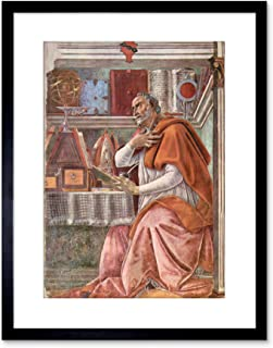 PAINTING BOTTICELLI ST AUGUSTINE STUDY FRAMED PICTURE ART PRINT F97X9367